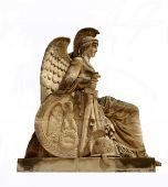 A Statue At The Arc De Triomphe Du Carrousel, Paris, France