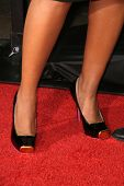 Tisha Campbell-Martin's shoes  at the Los Angeles Premiere of 'Zack and Miri make a porno'. Grauman's Chinese Theater, Hollywood, CA. 10-20-08