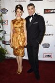 Maggie Siff and Bryan Batt  at the live revue A Night On The Town With 'Mad Men'. El Rey Theater, Lo