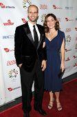 Edoardo Ponti and Sasha Alexander  at 'Rock The Kasbah' Benefiting Virgin Unite, Hollywood Roosevelt Hotel, Hollywood, CA. 10-23-08