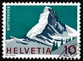 Postage Stamp Switzerland 1965 Matterhorn, Mountain