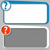Two Vector Text Box And Question Mark
