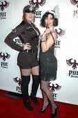 Khloe Kardashian and Kim Kardashian  at the Pur Jeans Halloween Bash. STK, Los Angeles, CA. 10-31-08