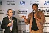 Lloyd Kaufman and Fred Williamson  at the Press Conference for the 10th Anniversary Troma Dance Film