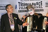 Lloyd Kaufman and Count Smokula  at the Press Conference for the 10th Anniversary Troma Dance Film F