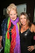 Sally Kirkland and Heather Michaels  at an AMA Gifting Suite by ShoeDazzle.com, Gibson Guitars, Beverly Hills, CA 11-21-08
