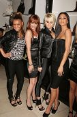 Melody Thornton and Jessica Sutta with Kimberly Wyatt and Nicole Scherzinger   at the Launch of the Pusscat Dolls Lingerie '...Shhh'. Bebe, Beverly Hills, CA. 12-03-08