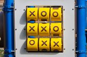 Tick-tack-toe Game At Playground