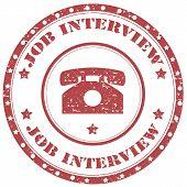 Job Interview-stamp