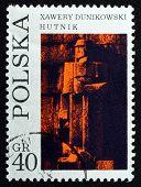 Postage Stamp Poland 1971 Founder, By Xawery Dunikowski