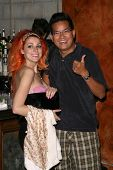 Bonnie McKee and Michael Tran  at a Private Premiere Party for TLC's 'Who Are You Wearing'. Stork, Hollywood, CA. 08-22-08
