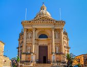 picture of gozo  - Xewkija church dedicated to St John the Baptist - JPG