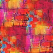 pic of uniqueness  - artist watercolor yellow red purple background - JPG