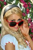 Paris Hilton  at the Launch of 'The Bandit' Hair Extension headband. Malibu Beach, Malibu, CA. 08-23-08