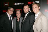 Rich Sommer and Matthew Weiner with Michael Gladis and Aaron Staton  at the Wrap Party for Season 2 of 'Mad Men'. Cicada, Los Angeles, CA. 08-23-08