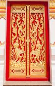 stock photo of chums  - beautiful temple door - JPG
