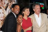 Will Smith and Jada Pinkett Smith with Annette Bening and Warren Beatty  at the Los Angeles Premiere of 'The Women'. Mann Village Theatre, Westwood, CA. 09-04-08