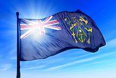 Pitcairn Islands (UK) flag waving on the wind