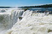 Iguassu Waterfalls Bordering Argentina Brazil