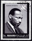 Postage Stamp Showing Martin Luther King