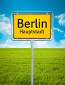 An image of the city sign of Berlin