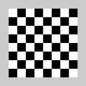 stock photo of draught-board  - Black and white chess or draughts board isolated on gray background - JPG