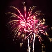 Pink And Gold Fireworks