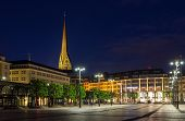 Rathausmarkt, A Square In Hamburg, Germany