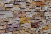 Stone Brick Wall For Pattern And Background.