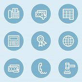 Finance web icon set 2,  blue buttons