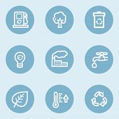 Ecology web icon set 1,  blue buttons