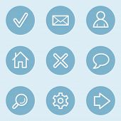 Basic web icons , blue buttons