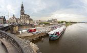 Dresden Embankment And Elbe River, Germany.