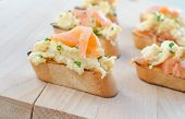 Toast With Smoked Salmon With Scrambled Eggs