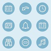 Organizer web icons , blue buttons