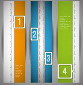 Banners with numbers.Design template. can be used for infographics. numbered banners. vertical cutou