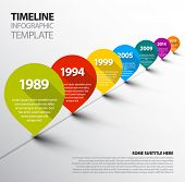 Vector retro Infographic Timeline Template with pointers