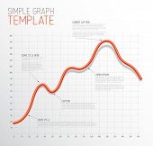 Vector Infographic Line graph template