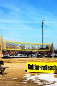 Baltimore USA - January 31 2014: Beach volleyball court