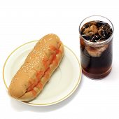 Hotdog And Soft Drink