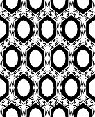 Abstract, black and white seamless pattern
