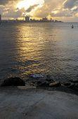 Havana Skyline At Sunset