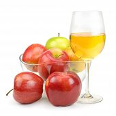 Apples And Glass With Juice