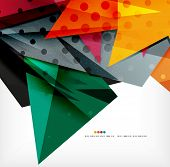 3d futuristic shapes vector abstract background made of glossy pieces with light effects and texture