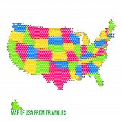 Map Of Usa From Triangles