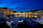cres harbour croatia night view