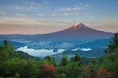 Mt Fuji and lake kawaguchiko
