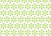 Green Tribal Or Roots Shape And Bloossom Pattern On Pastel Background