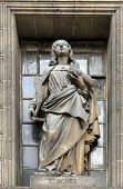 PARIS,FRANCE - NOV 09,2012: Saint Agnes of Rome, architectural details of Eglise de la Madeleine. Ma