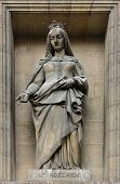 PARIS,FRANCE - NOV 09,2012: Saint Adelaide of Italy, architectural details of Eglise de la Madeleine